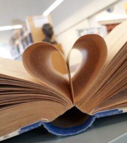sydän kirjansivuista